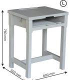 Meja Sekolah Plastik SMP dan SMU
